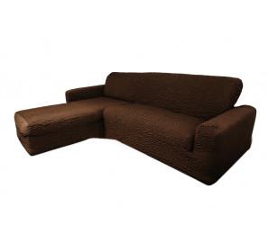 "Чехол на диван с выступом левый угол ""Шоколад"""