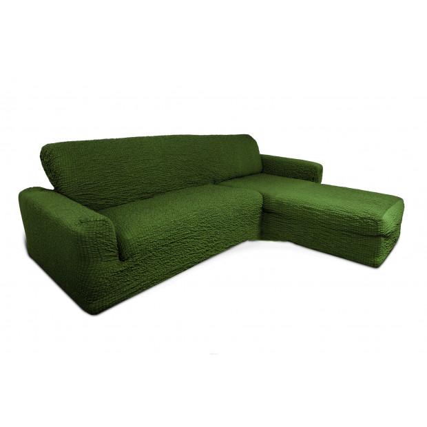 """Чехол на диван с выступом правый угол """"Зеленый"""""""