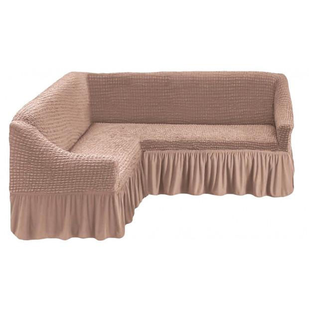 "Чехол на угловой диван ""Капучино"""