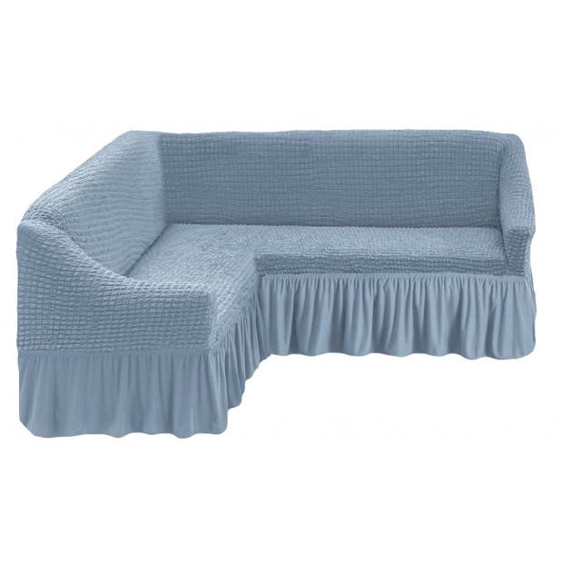 """Чехол на угловой диван """"Голубой"""""""