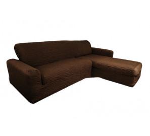 "Чехол на диван с выступом правый угол ""Шоколад"""