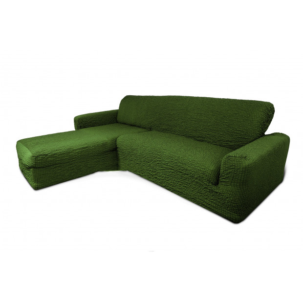 """Чехол на диван с выступом левый угол """"Зеленый"""""""