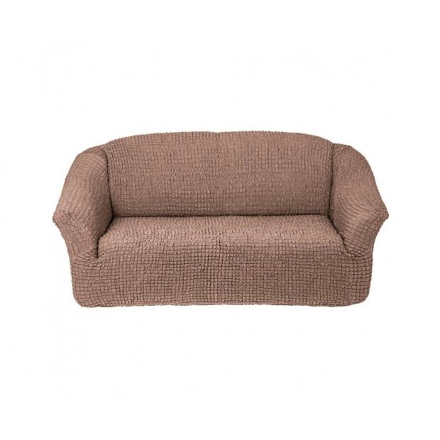 "Чехол на 3-х местный диван без оборки ""Капучино"""