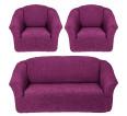 """Чехол на диван и 2 кресла без оборки """"Фиолетовый"""" - small"""