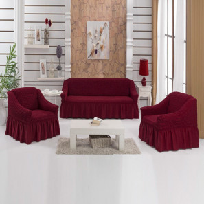 "Чехол на диван и 2 кресла ""Бордо"""