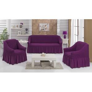 """Чехол на диван и 2 кресла """"Фиолетовый"""""""