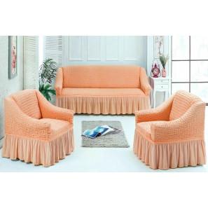 "Чехол на диван и 2 кресла ""Персик"""