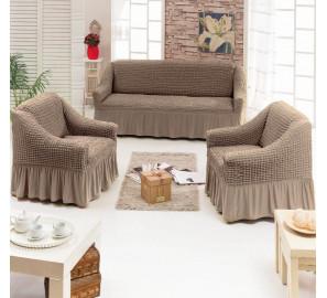"""Чехол на диван и 2 кресла """"Капучино"""""""