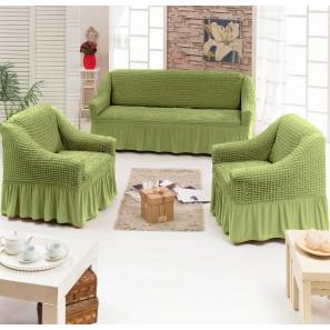 """Чехол на диван и 2 кресла """"Зеленый"""""""
