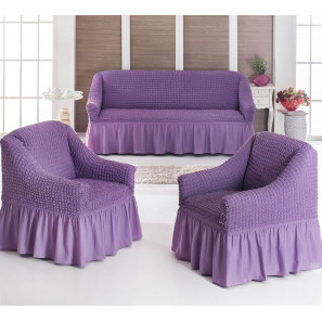 "Чехол на диван и 2 кресла ""Сиреневый"""