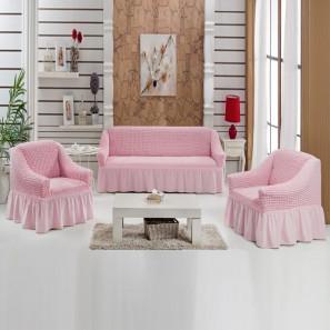 """Чехол на диван и 2 кресла """"Розовый"""""""