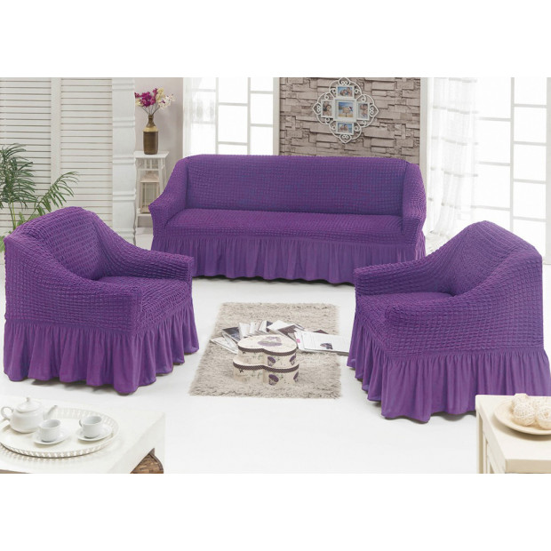 "Чехол на диван и 2 кресла ""Сиреневый №217"""