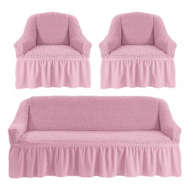 """Чехол на диван и 2 кресла """"Пыльная роза №206"""""""