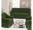 "Чехол на диван и 2 кресла ""Зеленый №222"" - small"