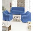 """Чехол на диван и 2 кресла """"Синий №226"""" - small"""