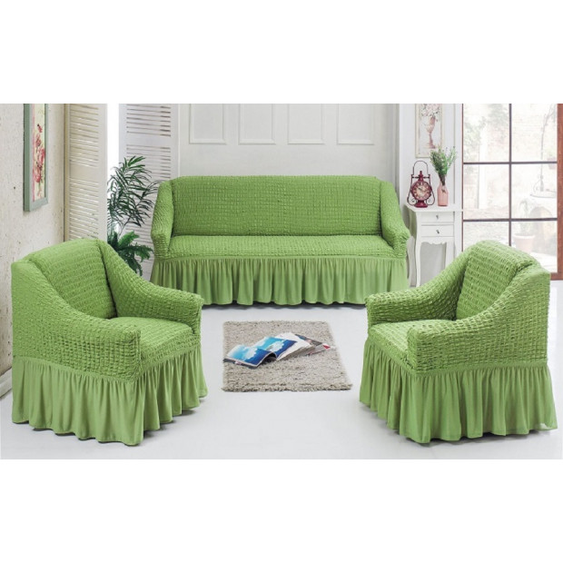 "Чехол на диван и 2 кресла ""Фисташка №228"""
