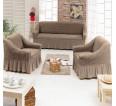 "Чехол на диван и 2 кресла ""Какао №205"" - small"