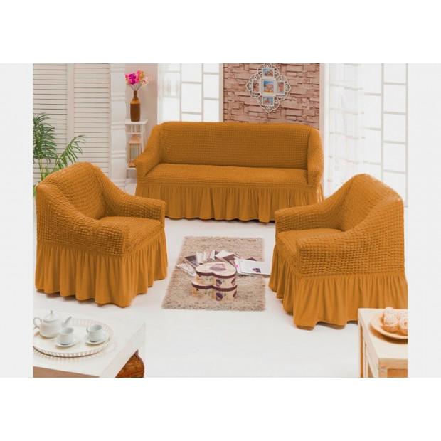 "Чехол на диван и 2 кресла ""Охра №208"""