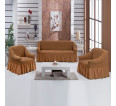 "Чехол на диван и 2 кресла ""Сепия №210"" - small"