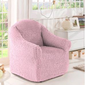 """Чехол на кресло без оборки """"Розовый"""""""