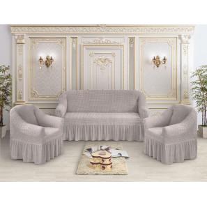 "Чехол на диван и 2 кресла премиум ""Какао"""