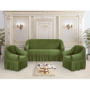 """Чехол на диван и 2 кресла премиум """"Оливковый"""""""
