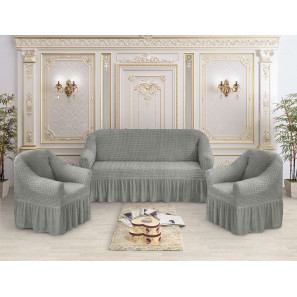 "Чехол на диван и 2 кресла премиум ""Серый"""