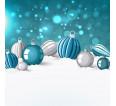 """Фотошторы """"Новогодние игрушки"""" 3д (блэкаут) - small1"""