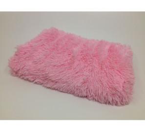 """Пушистый плед травка с длинным ворсом """"Розовый"""" (меховой)"""