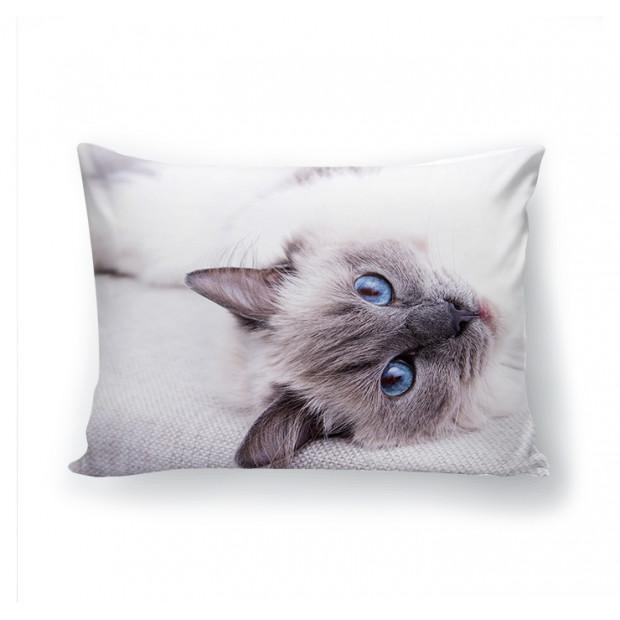 "Фото подушка ""Голубые глаза"" (габардин)"