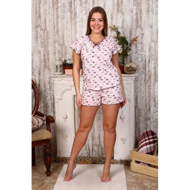 """Пижама женская """"Б2 бантики на розовом"""""""