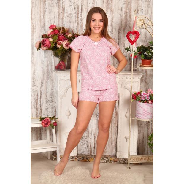 """Пижама женская """"Б2 узор на розовом"""""""
