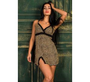 """Ночная сорочка """"А1 леопард"""""""