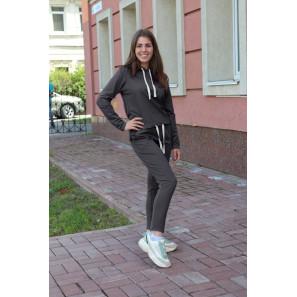 """Женский спортивный костюм с капюшоном """"Бриджит"""" (серый)"""