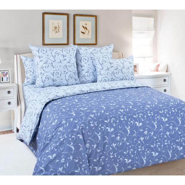 """Ткань перкаль """"Габриэль"""" синий для постельного белья (основа) 220 см (оптом от 1 рулона)"""