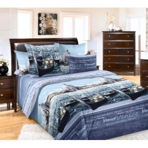"""Ткань перкаль """"Венеция"""" фиолетовый для постельного белья 220 см (оптом от 1 рулона)"""