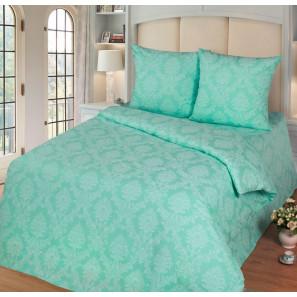 """Ткань поплин """"Бирюза"""" для постельного белья 220 см (в розницу от 1 метра на отрез)"""