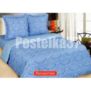 """Ткань поплин """"Византия"""" голубой для постельного белья 220 см (в розницу от 1 метра на отрез)"""
