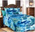 """Ткань бязь """"Дельфинарий"""" для постельного белья 150 см (оптом от 1 рулона) - small"""
