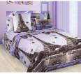 "Ткань бязь ""Романтика Парижа""  220 см (в розницу от 1 метра на отрез) - small"