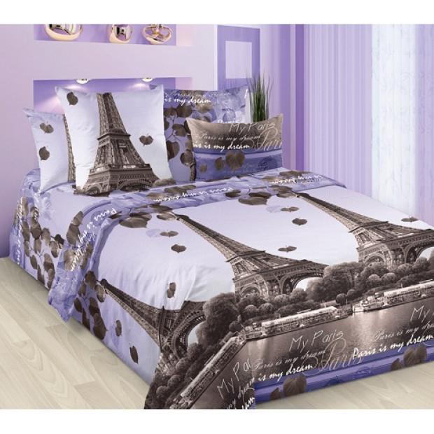 "Ткань бязь ""Романтика Парижа""  220 см (в розницу от 1 метра на отрез)"