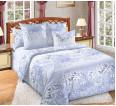"""Ткань бязь """"Изящество"""" синий для постельного белья 220 см (оптом от 1 рулона) - small"""