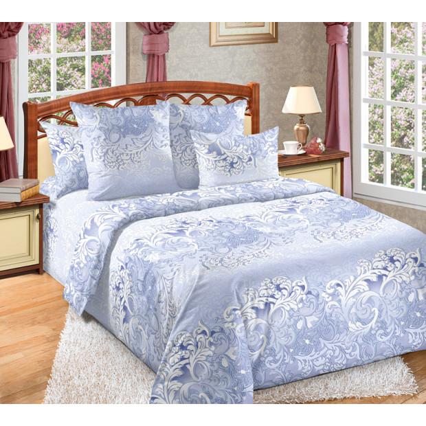 """Ткань бязь """"Изящество"""" синий для постельного белья 220 см (оптом от 1 рулона)"""