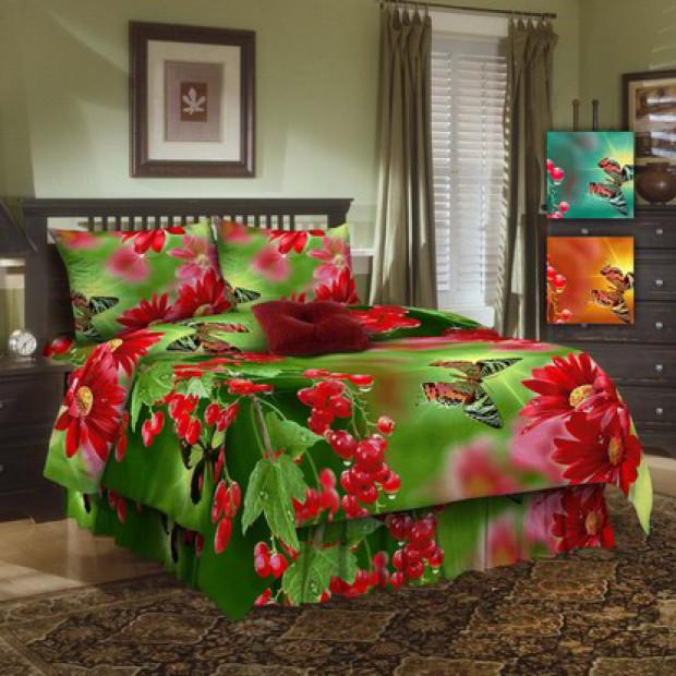 """Ткань бязь """"Смородина"""" 3D для постельного белья 150 см (оптом от 1 рулона)"""
