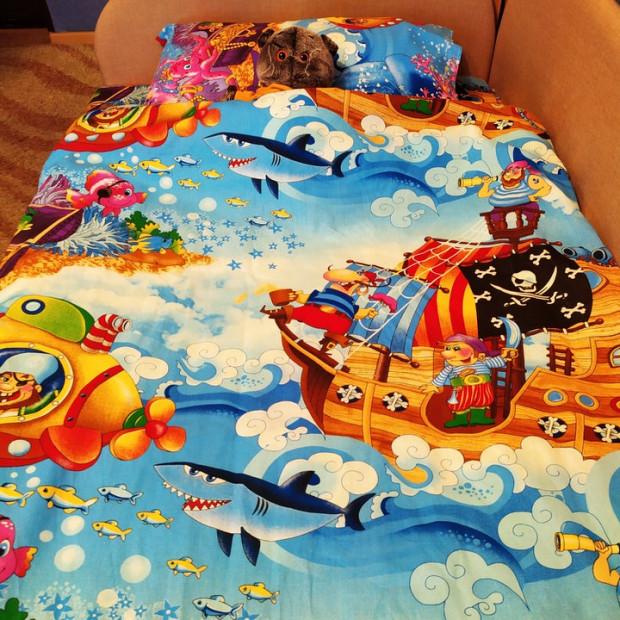 """Детское постельное белье бязь """"Пираты"""""""