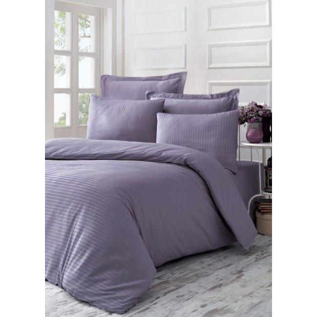 """Элитное постельное белье страйп-сатин """"Purple Sage"""""""