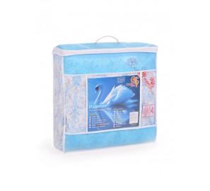 Одеяло лебяжье 1.5 спальное легкое (тик)