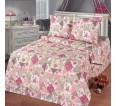 "Ткань бязь ""Лоскутная мозаика"" розовая  220 см (оптом от 1 рулона) - small"