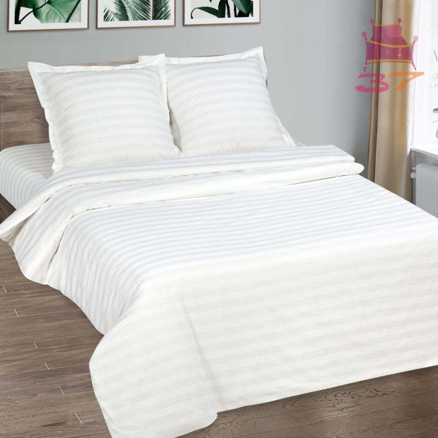 Постельное белье страйп-поплин 3х3 см (Отель)