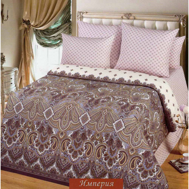 """Ткань поплин """"Империя"""" для постельного белья (основа) 220 см (в розницу от 1 метра на отрез)"""
